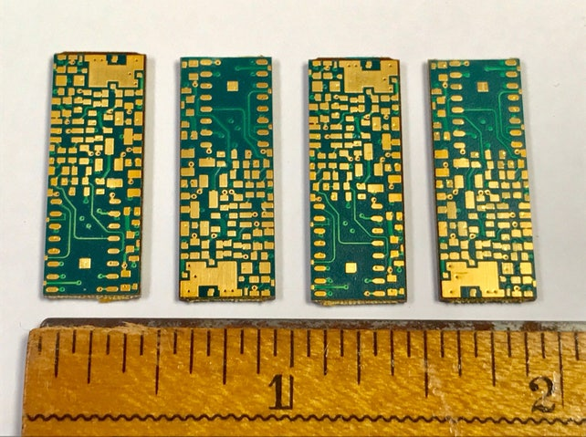 vintage recycled printed loose circuit board pcb green gold etsy rh etsy com