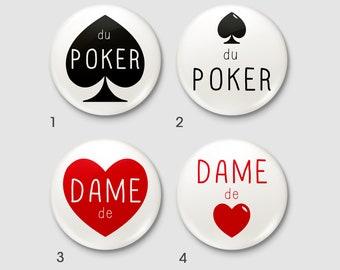 """Badge Poker """"POKER ACEs"""" - """"Queen of hearts"""""""