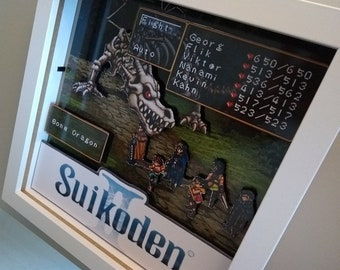 3d Diorama Shadowbox Suikoden / PlayStation games / home decoration / Nintendo / Gift /  Wall decor / roleplay / RPG