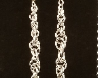Tapered Long Chainmaille Earring