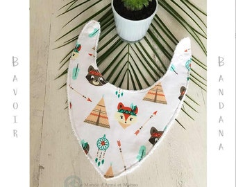 Anti-bavouilles bandana bib / gift / gift of birth/baby/organic bandana bib bandana bib available