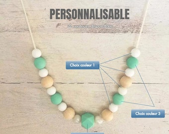 Necklace Babywearing or nursing customizable - colors available