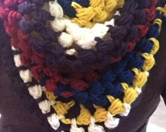 Revival Crochet Triangle Scarf