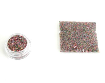 Micro beads glass MULTICOLOR X 10 gr