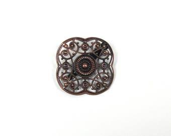 Metal brooch, flower brooch jewelry, clothing, embroidery, pin brooch brooch pin fabrics, 1 X brooch finding