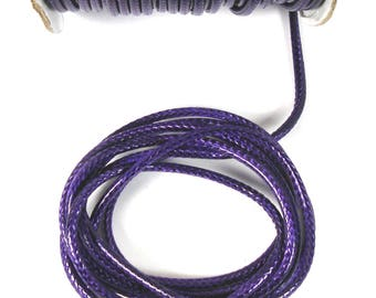 Ruler 3 X 1 mm snake skin look purple waxed cord