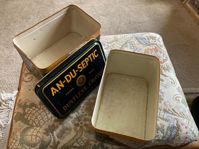 Vintage An-du-septic art tins