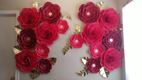 Pink 12 x 15mm Paper Rose Flowers