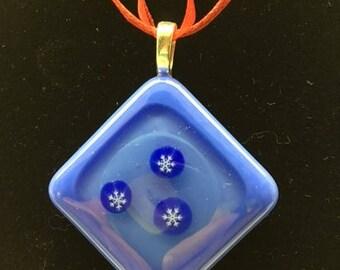 Diamond-shaped, snowflake pendant