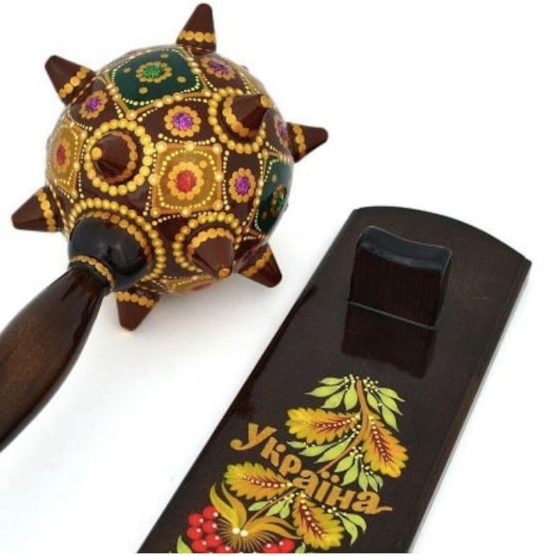 Gift for Him Gift for Husband Ukrainian Mace wooden handmade for men Gift for Easter Traditional Mace wooden handmade Souvenir Bulava