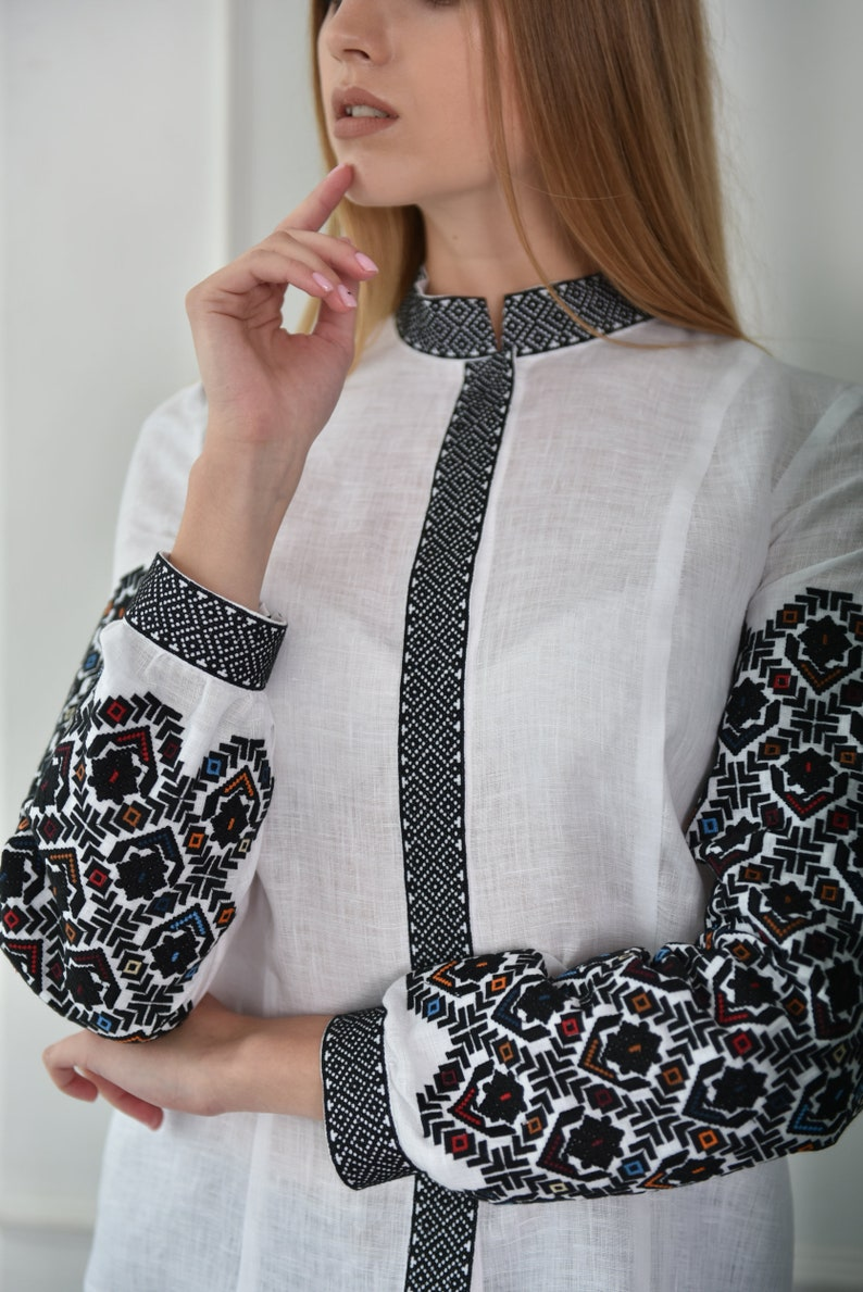 Gift for Her ukrainian embroidered blouse vyshyvanka bohemian ethnic shirt boho chic peasant Gift for Easter Ukrainian vyshyvanka blouse