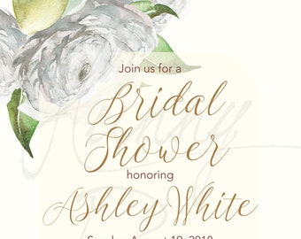 watercolor italian wedding bridal shower invitation mediterranean italy couple shower theme