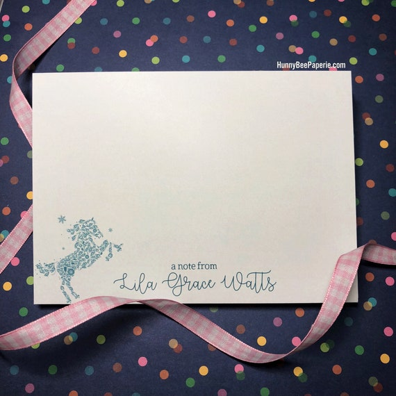 Three Horses~ Personalized Note or Thank You Cards