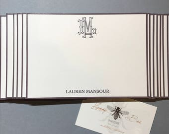 Personalized Stationery Set ·· Monogram Stationery ·· Custom Stationery Set ·· Custom Notecards