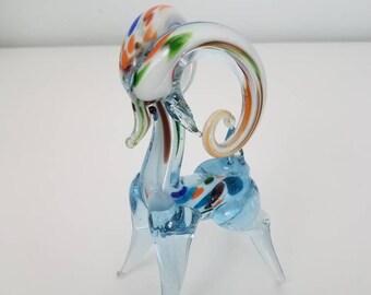 Murano Style Blown Glass Ram