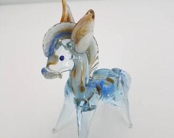 Murano Style Blown Glass Horse