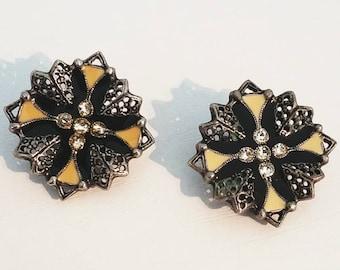 Venetian Style Clip Earrings