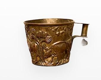 Ornate Vintage Greek Repousee Handmade Cup