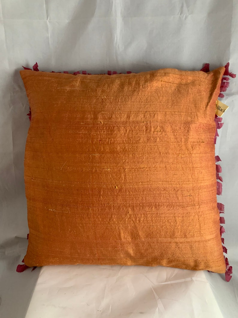 with Periwinkle Artsy pillow Pumpkin and gorgeous rose tones. A handmade pillow like no other