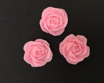 Pink rose, royal icing decorations, 24 pieces