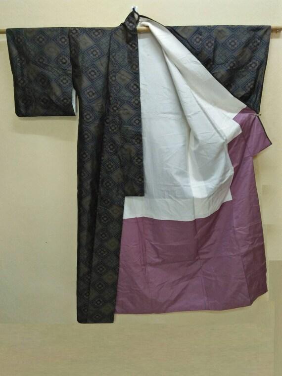 JAPANESE TRADITIONAL KIMONO Dress Yukata Vintage … - image 3