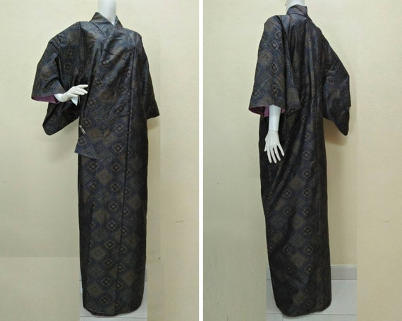 JAPANESE TRADITIONAL KIMONO Dress Yukata Vintage … - image 1