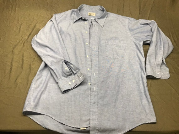 White Shirt Vintage shirt Hathaway Button down unisex shirt from afterhoursdropbox on etsy