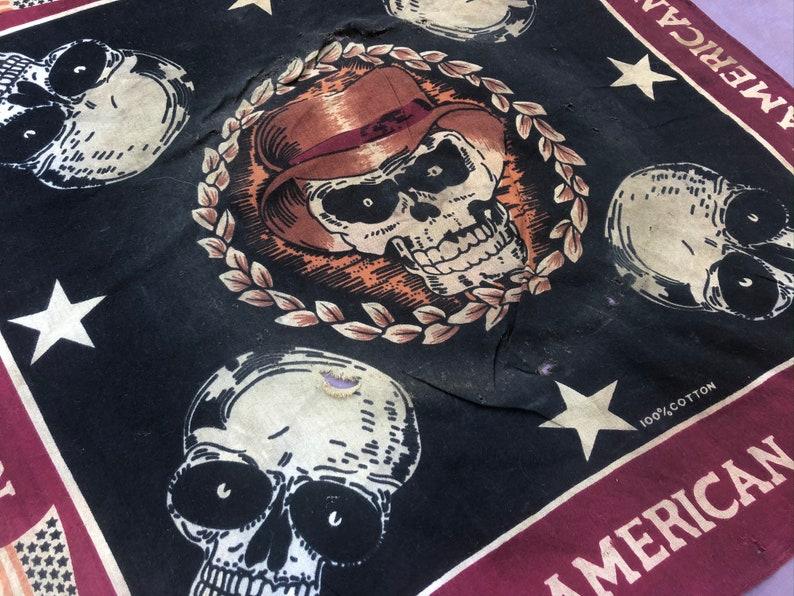 Motorcycle Western Wear Vintage Handkerchief Outlaw from Afterhoursdropbox on Etsy