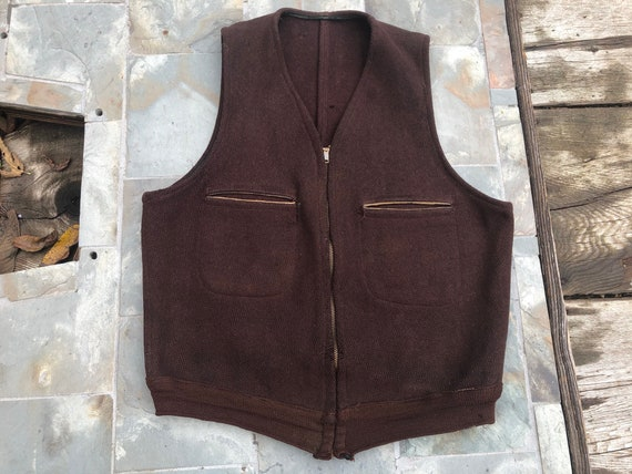 Vintage Vest, Hart Uniform, Columbus Ohio, 1940s,