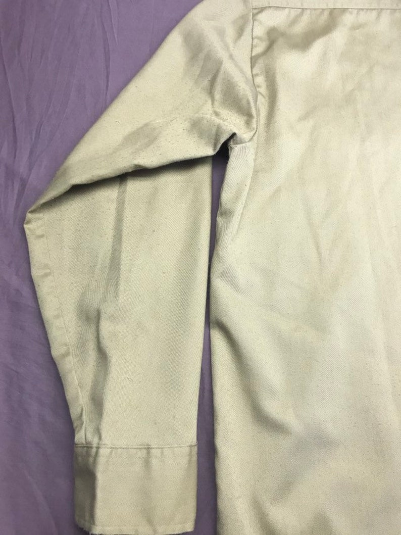 Beige Shirt from Afterhoursdropbox on Etsy Perma Prest Vintage Work Wear