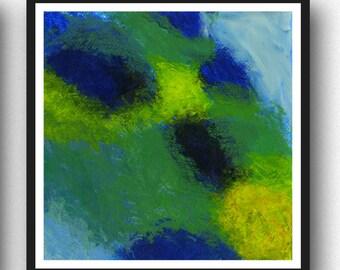 Green Abstract Art Print, Modern Abstract Painting, Green Wall Art, Green Decor, Green and Blue, Minimalist Painting Art Prints Modern Decor