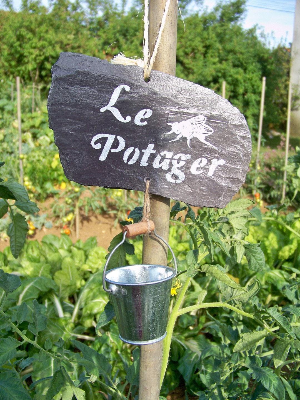 Suspension en ardoise pancarte panneau d coration de jardin etsy - Panneau ardoise jardin ...
