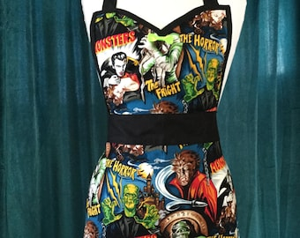 Hollywood Horror Movie Monsters Apron  *Ready to Ship