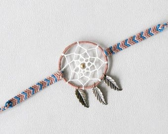 Bracelet Brazilian Native American dreamcatcher bracelet ethnic hippie Brown Blue Brasilda Indian charms