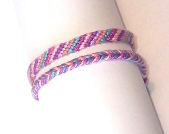 new product eef36 8f6fa Pink Purple friendship bracelets assorted woven hippie braided Brasilda