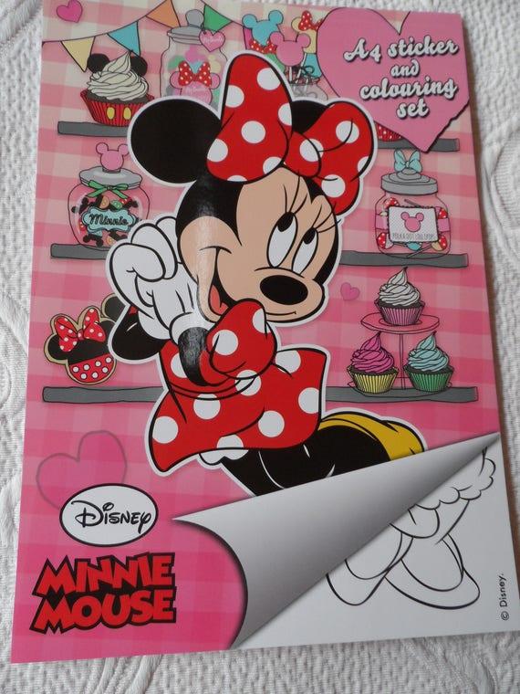 Livre De Coloriage Minnie Et Ses Amis Disney 16 Pages Et Etsy