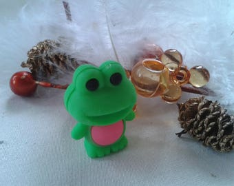 Eraser, IWAKO puzzle, frog green and pink collection form children