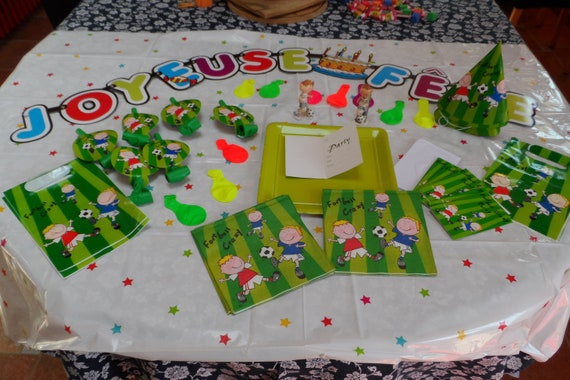 Kit Decoration For Birthday Theme Foot Your Green Special Etsy