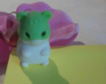 Eraser IWAKO puzzle shape hamster, green and white collection children