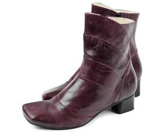 0f1b65ed3 TIGGERS Designer ankle boots Eu 39 Uk 6 US 8.5 Violet real leather womens  vintage boots Purple Ankle boots Ankle booties Heeled boots