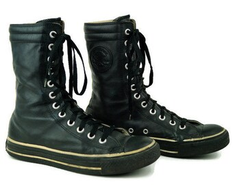 dbf4ec2864aa Converse ALL STAR sneakers unisex footwear black white leather size Eu 39  Uk 6 US 8