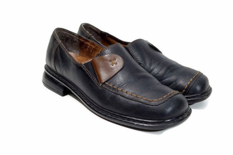 DR JURGENS Antistress shoes Eu 39 Uk 6 US 8,5 BlackBrown real leather womens shoes Classic casual shoes Comfort shoes Slip on shoes