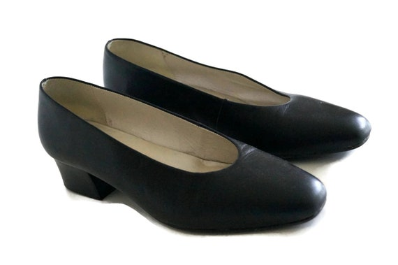 ECCO shoes Womens leather shoes black color classic shoes Eur Sz. 37 12 Leather pumps Genuine leather inside and outside Rubber sole