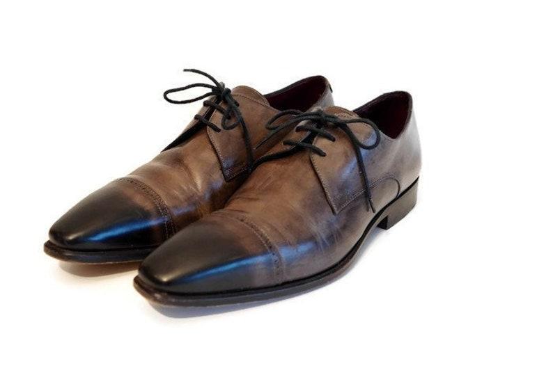 1b3152b225c734 Herren Leder Knöchel Schuhe EU Größe 41 von CANALI grau und