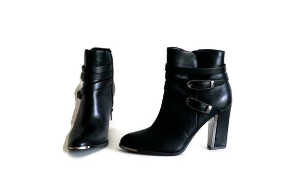 MODA IN PELLE ankle boots Eu 37 Uk 4 Us 65 Black womens ankle  2cfdc196a38f