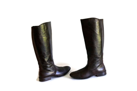 a204e1c2b5c AUTOGRAPH riding boots Eu 40 UK7 US 95 Tall Leather Boots