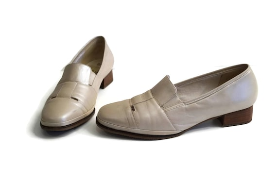 SEMLER Women's Loafers EU 42 Uk 9 US 11,5 Pearl beige real leather shoes Slip on shoes German quality shoes Comfort shoes Cream white shoes
