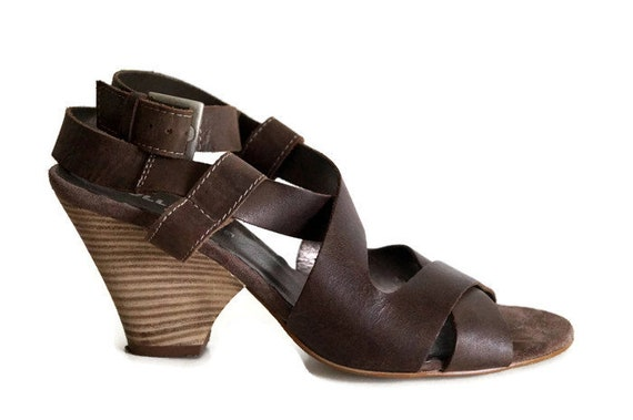 25739cf3c722 BULLBOXER Shoes 38 Sz. Sandals Brown Genuine leather womens
