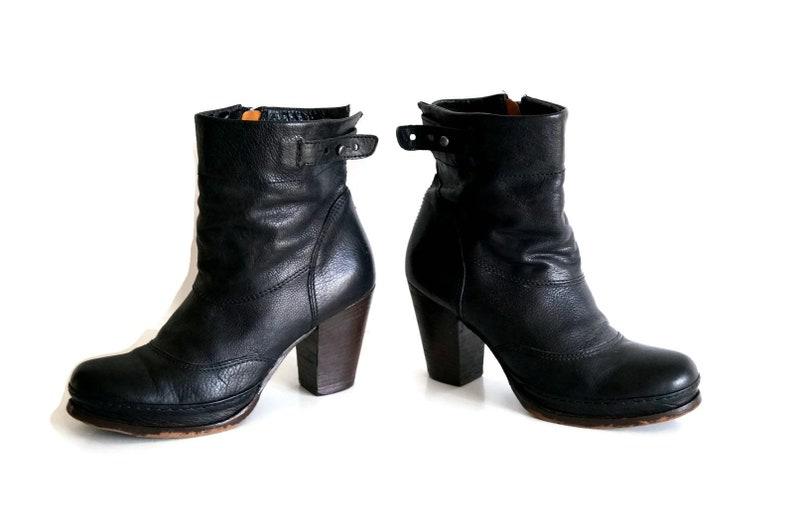 e6071d5b90eb AIRSTEP ankle boot Eu 38 UK 5 US 75 Genuine Black leather | Etsy
