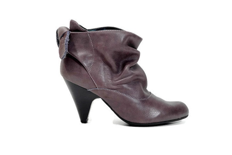 5f39a7ef0e62d PATRICIA MILLER Designer ankle boots Eu 37 Uk 4 US 6.5 Real leather womens  boots Ankle boots Ankle booties Brown heel boots Made in Spain